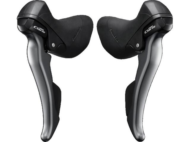 Shimano Claris ST-R2000/-R2030 - Set commandes de vitesse - paire 3x8 vitesses gris/noir